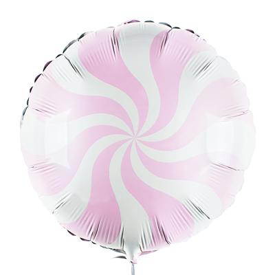 Шарик леденец розовый