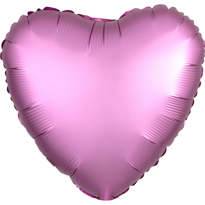 Шарик Сердце Сатин «Фламинго»