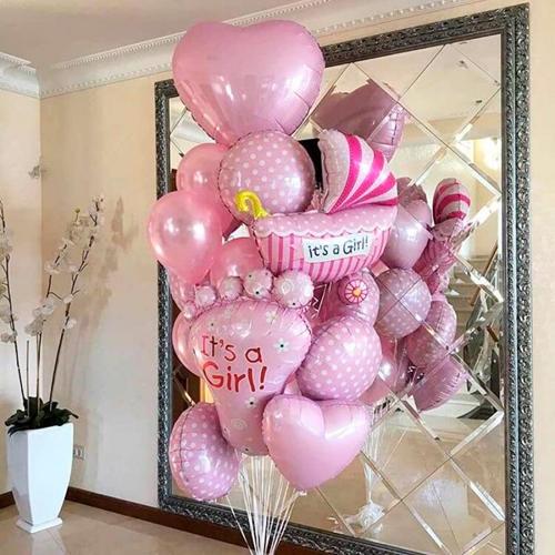 Купить шарики в роддом для девочки