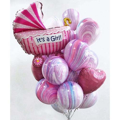 Купить шары в роддом для девочки