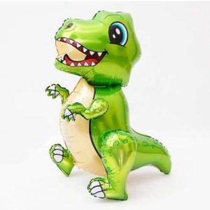 Шар 3D Динозавр Тираннозавр зеленый