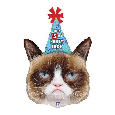 Шарик Grumpy Cat Сердитая кошка в колпаке
